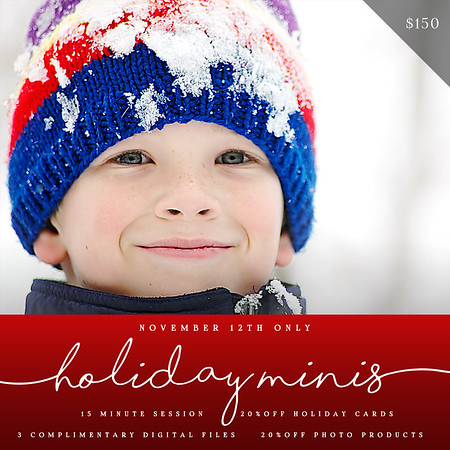 2016 Holiday Mini Sessions!