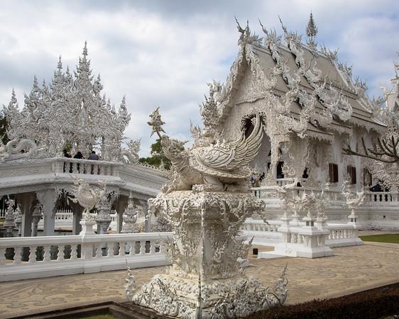 White temple Chiang Rai, Thailand - December, 2017