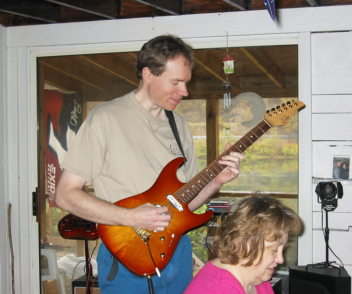 FL & Shirley Lebin, jamming at the Lebin house, Oct 27 2002.