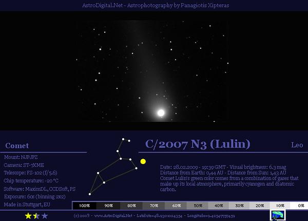Comet Lulin  C/2007 N3