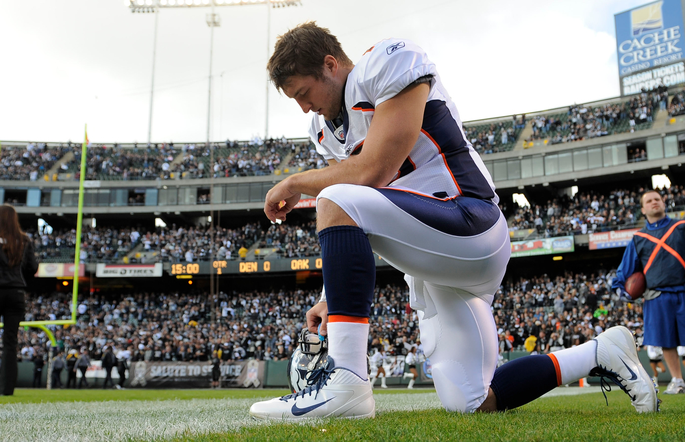 . 1. Tim Tebow, QB, first round, No. 25 overall, 2010: Then-coach Josh McDaniels had the audacity to believe he could correct Tebow�s passing deficiencies. Four months later, McDaniels gave Kyle Orton a one-year, $8.8 million contract extension. Tebow get one chance to play for current coach John Fox, in 2011 � and he won six in a row to lift the Broncos to the AFC West title, then stunned the football world by passing for 316 yards to upset Pittsburgh in a first-round playoff game. (John Leyba/ The Denver Post)