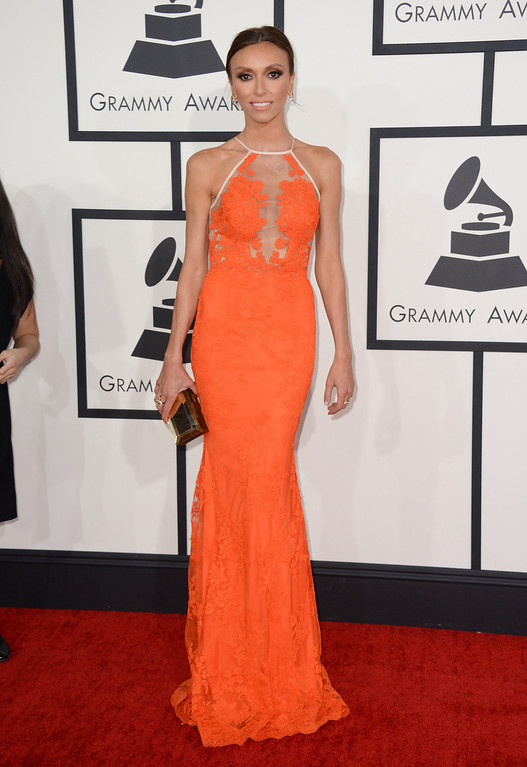 . Giuliana Rancic arrives at the 56th annual GRAMMY Awards at Staples Center on Sunday, Jan. 26, 2014, in Los Angeles. (Photo by Jordan Strauss/Invision/AP)