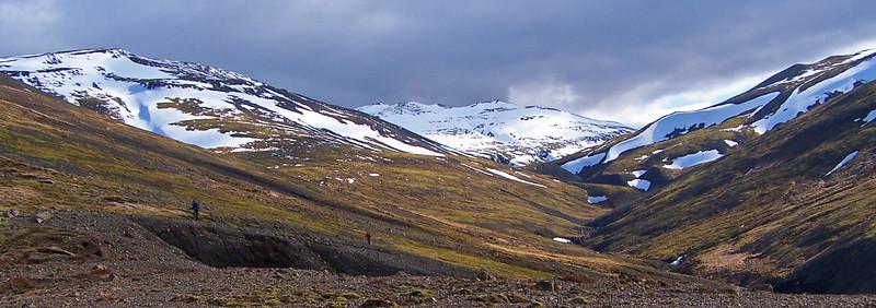 Horft inn Grjóteyrardal að Dalamótum