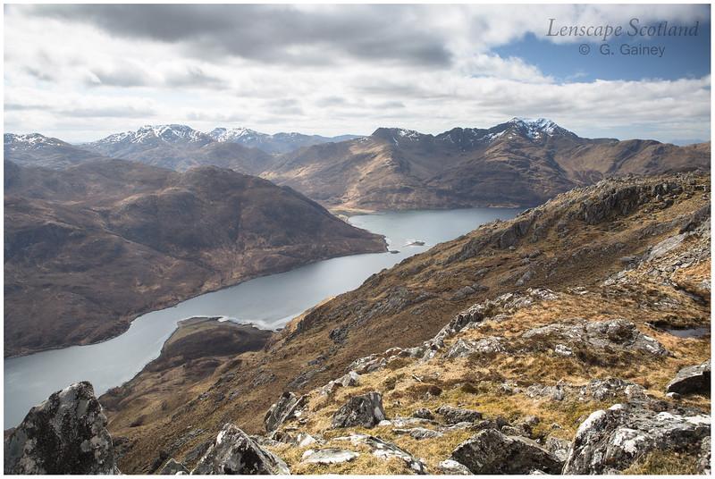 Loch Hourn and Ladhar Bheinn (Knoydart) from Druim Fada