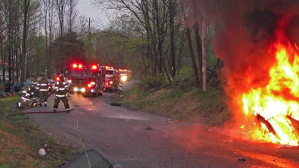MVA - Car Fire