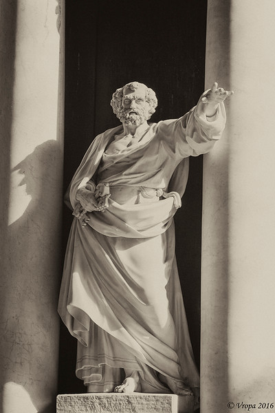 Petrus in de Sint-Baafskathedraal van Gent.