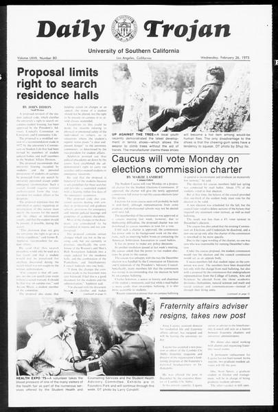 Daily Trojan, Vol. 67, No. 80, February 26, 1975