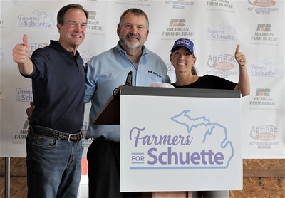 Farmers for Schuette Rally at Sandborn Farms in Ionia County