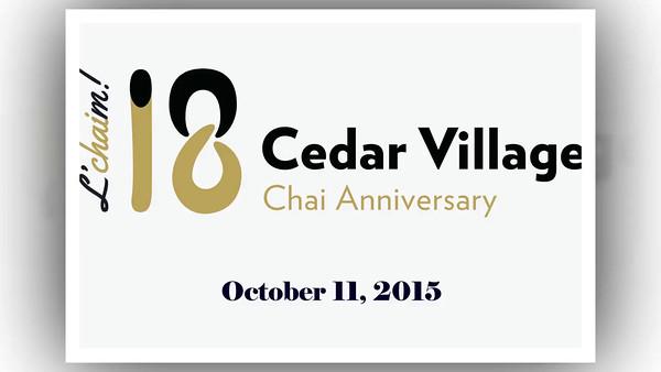 Cedar Village Chai Gala