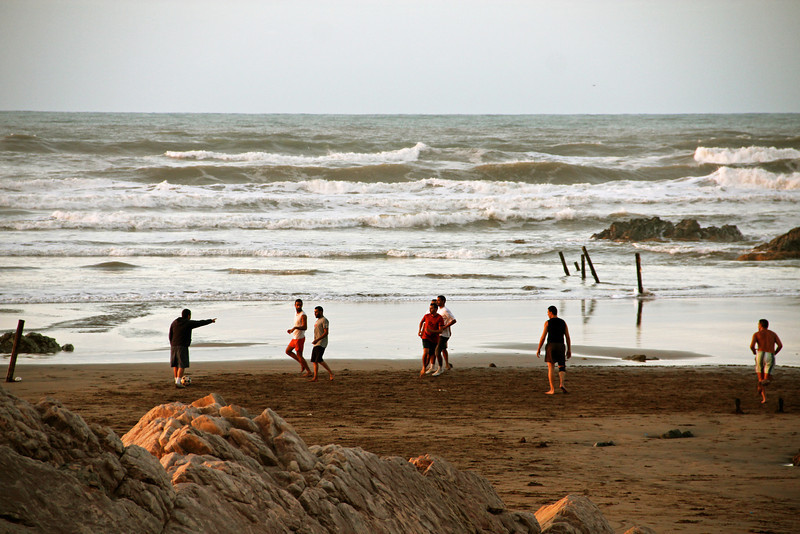 soccer on the beach. casablanca