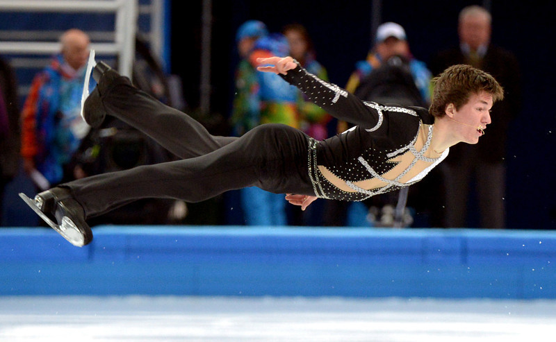 . Ukraine\'s Yakov Godorozha performs during the Men\'s Figure Skating Team Short Program at the Iceberg Skating Palace during the Sochi Winter Olympics on February 6, 2014.  (DAMIEN MEYER/AFP/Getty Images)