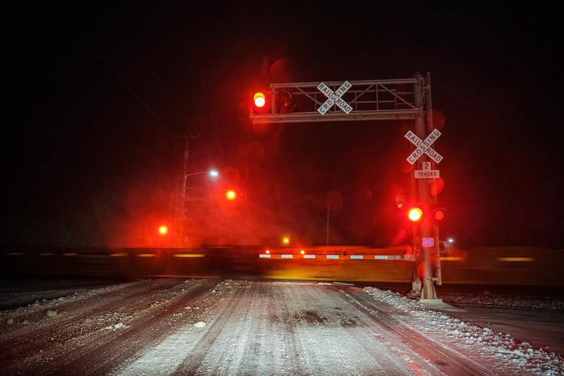 Runaway Train on a Snow Track