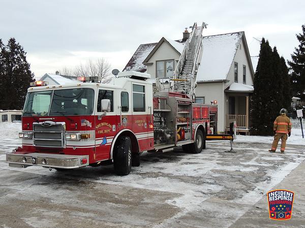 Attic fire on January 13, 2016