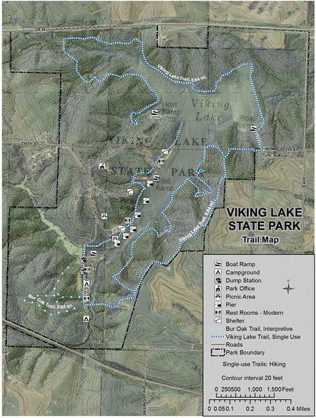 Viking Lake State Park (Trail Map)
