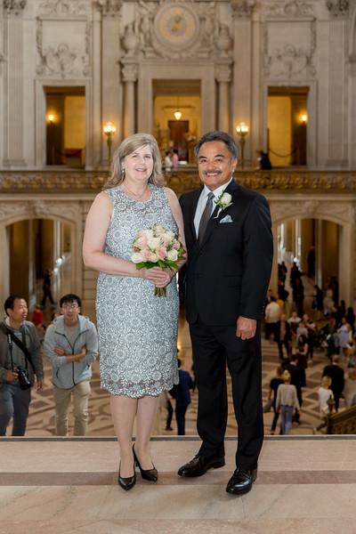 Desi & Kathy SF City Hall