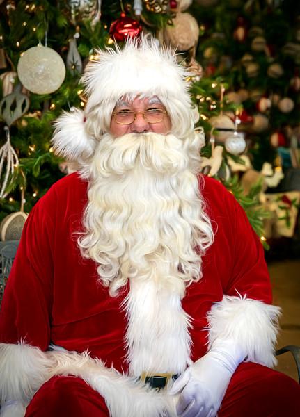 Santa Visits Blumenladen, Dec 7, 2019