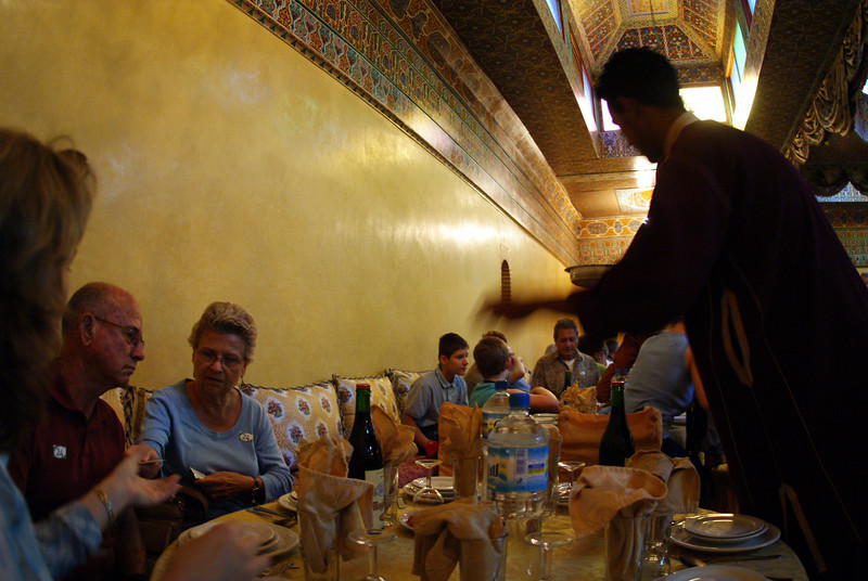 Marrakesh, Morocco. Our waiter had some kind of magic hand going there.