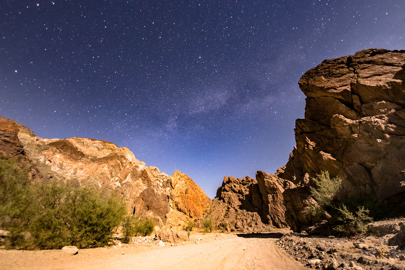 Moonlit Milky Way in Painted Canyon