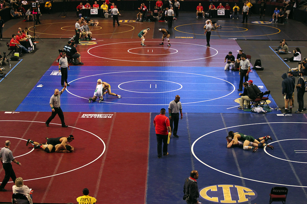 . Day two of the California Interscholastic Federation wrestling championships in Bakersfield, Calif., on Saturday, March 2, 2013. (Anda Chu/Staff)