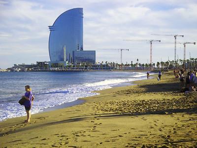 Barcelona in October.