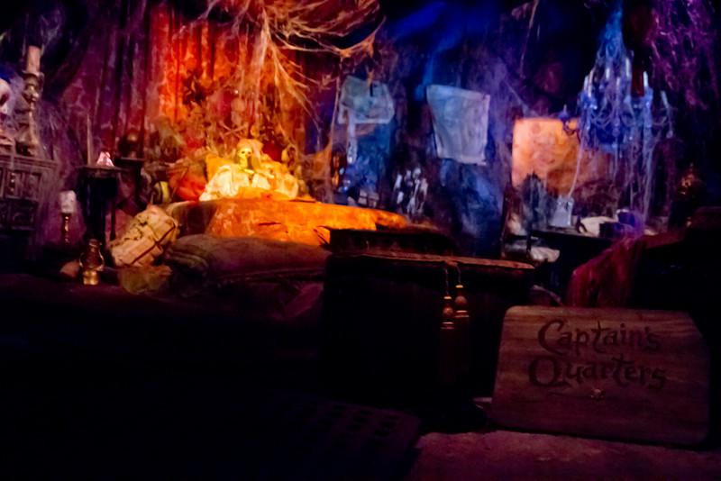 Captians Quarters In Pirates Of The Carribean Ride @ Disneyland
