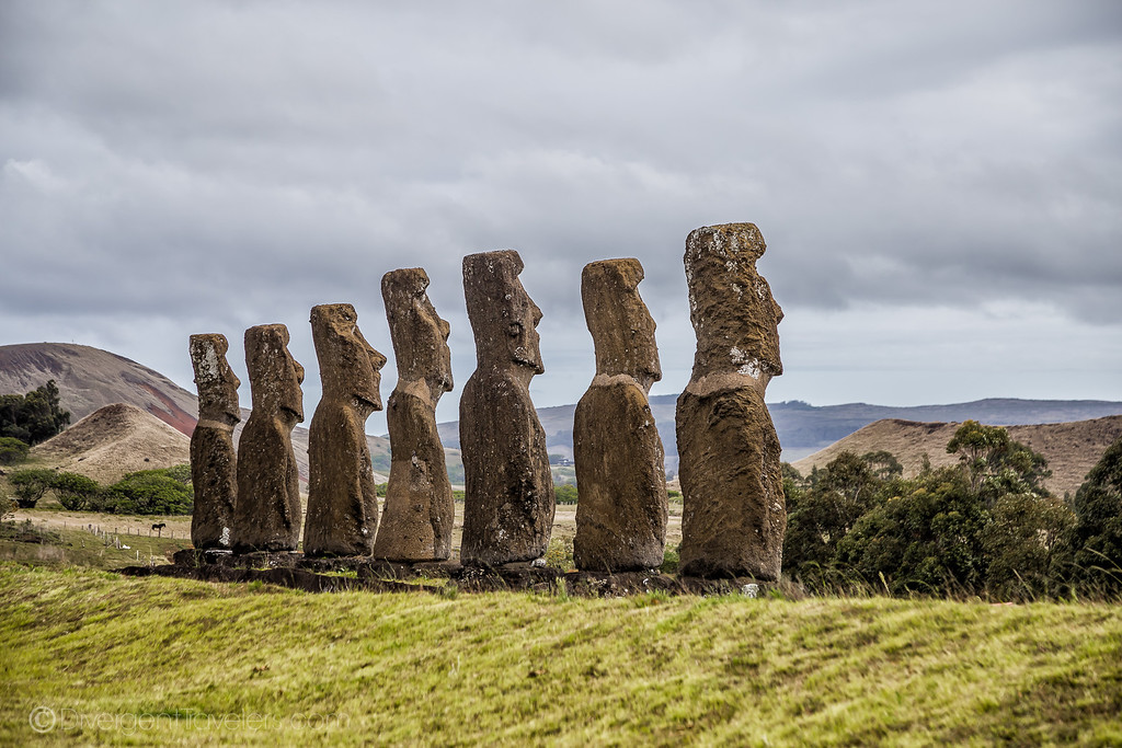 Rapa Nui National Park Easter Island - Akivi - Lina Stock