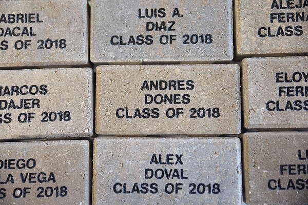 Class of 2018 Science Pavilion Plaza Bricklaying Ceremony