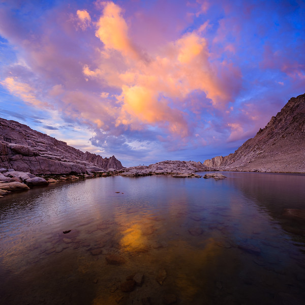 Consultation Lake at sunset, Sierra Nevada, California