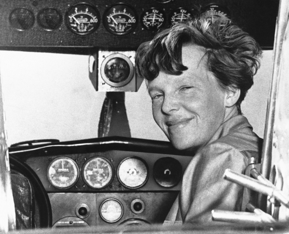 . Amelia Earhart poses in this undated photo. (AP Photo)