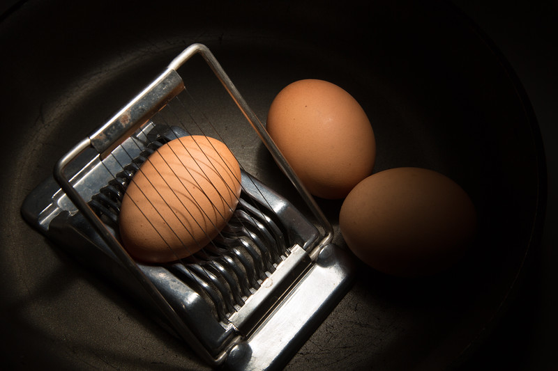 Recreating Edward Weston Eggs and slicer