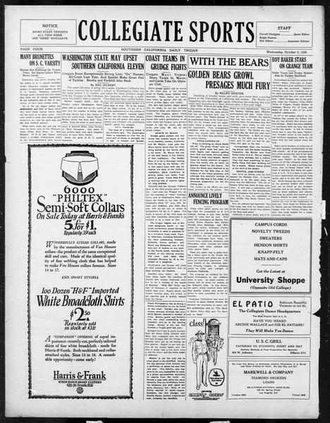 Daily Trojan, Vol. 18, No. 16, October 06, 1926