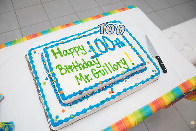 Mr Guillory's 100th