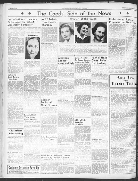 Daily Trojan, Vol. 30, No. 78, February 14, 1939