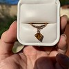 .84ct Fancy Deep Orange-Yellow Shield Shape Diamond Charm Ring 6