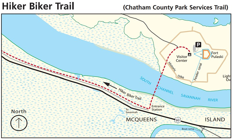 Fort Pulaski National Monument (Hiker/Biker Trails)