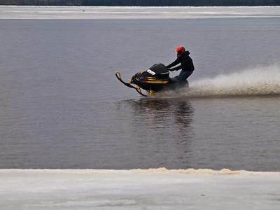 Water skiing-Yooper Style
