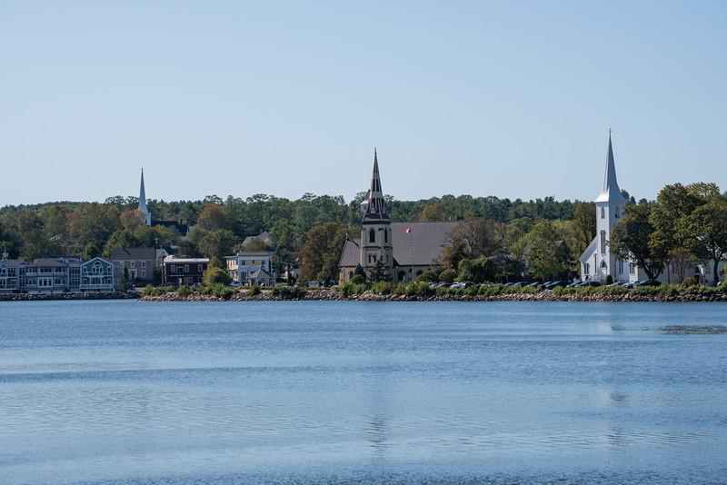 Three churches of Mahone Bay
