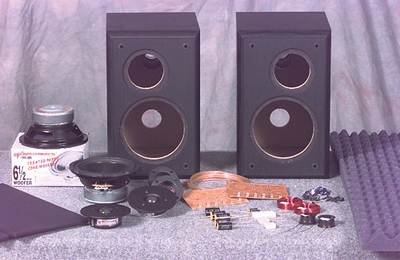 The kit includes all the parts needed to build a pair of speakers. Crossover parts are a much higher quality than other speakers in this price range and are better than those found in speakers costing ten time as much like the Vandersteen 2Ce Sig and the Magnepan 1.6QR. They include Solen perfect layer air core inductors, metallized polypropylene caps and non-inductive resistors.
