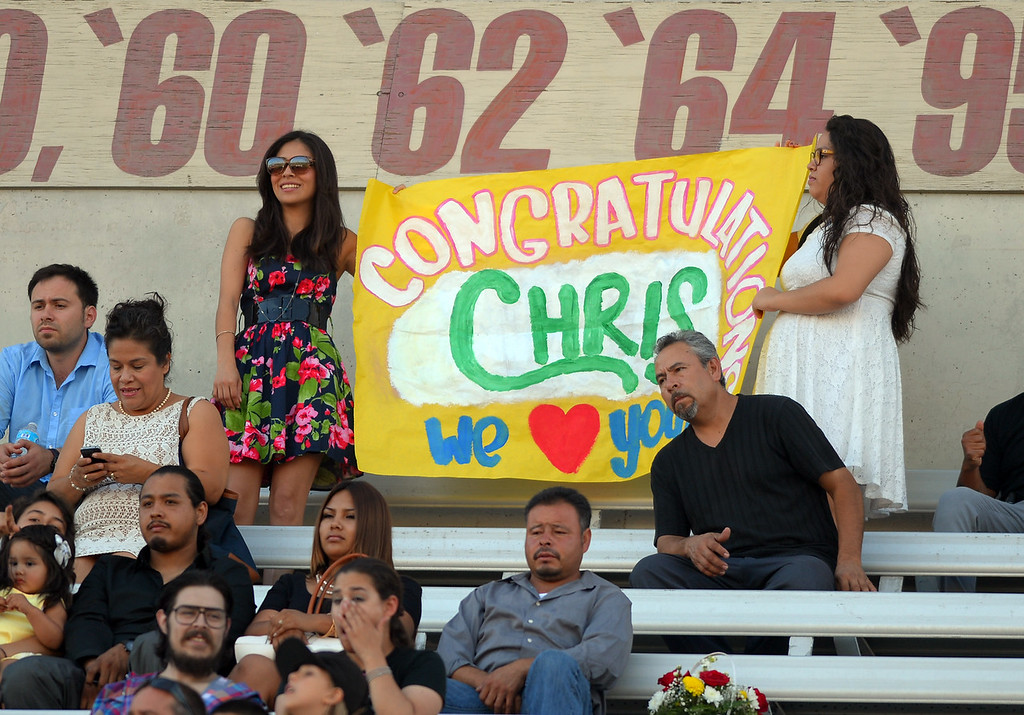 . Long Beach City College\'s class of 2014 receive their certificates and degrees at Veterans Memorial Stadium in Long Beach, CA on Thursday, June 5, 2014. (Photo by Scott Varley, Daily Breeze)