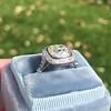 2.85ct Antique Cushion Cut Diamond Halo Ring 39