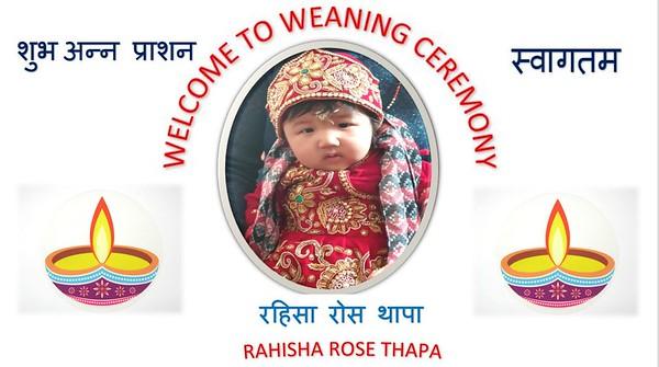 Weaning Ceremony Rahisha