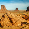 Navajo Dog and the Classic Buttes, Monument Valley, USA