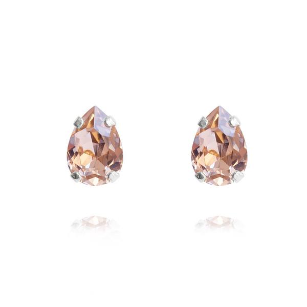 Petite Drop Stud Earrings / Vintage Rose Rhodium