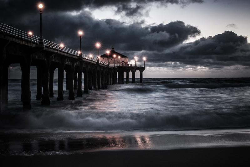 Manhattan Beach Pier #2, El Nino, March 3, 2016