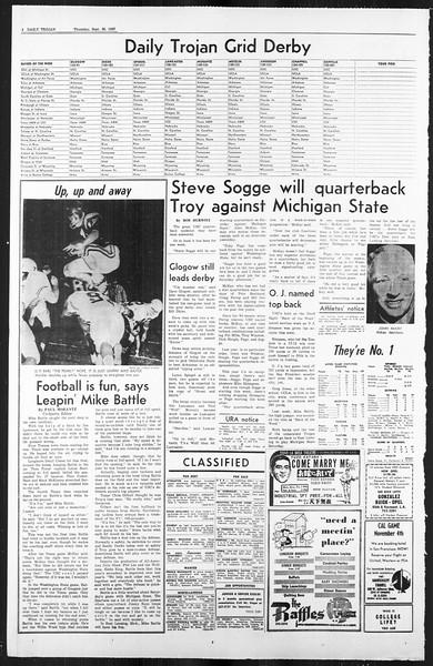 Daily Trojan, Vol. 59, No. 9, September 28, 1967