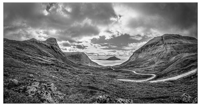 Landscape of Faroe 3   Black and White Photography by Wayne Heim