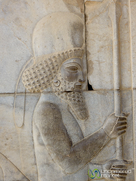 Median Solidier Carving - Persepolis, Iran