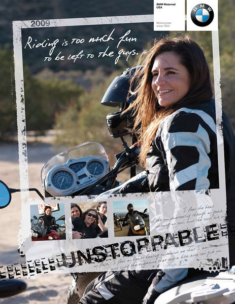 Riding is too much fun to be left to the guys! That's the message from BMW Motorrad USA, which has just produced a new brochure exclusively for women, although no doubt a lot of men will be interested in taking a look at it. Entitled 'Riding is too much fun to be left to the guys', it not only highlights BMW Motorrad's motorcycling products, but also chronicles the incredible stories behind some of its typical female riders. More here:  http://www.bmwmoa.org/news/general_interest/riding_is_too_much_fun_to_be_left_to_the_guys