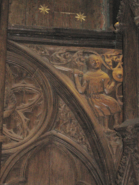 Detail of wood carvings, Winchester Cathedral