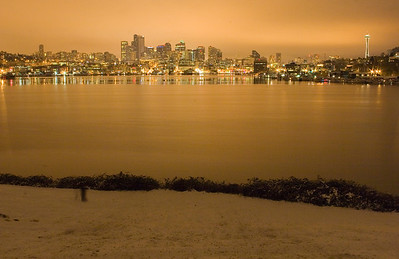 Gasworks Park Snow - Seattle January 19th, 2012.